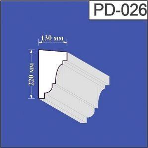 Підвіконня з пінополістиролу Валькірія 130х220 мм (PD 026)