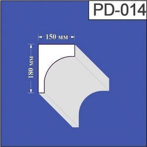 Підвіконня з пінополістиролу Валькірія 150х180 мм (PD 014)