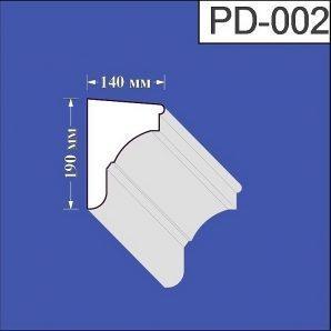 Підвіконня з пінополістиролу Валькірія 140х190 мм (PD 002)