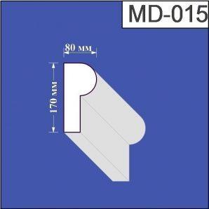 Молдинг з пінополістиролу Валькірія 80х170 мм (MD 015)