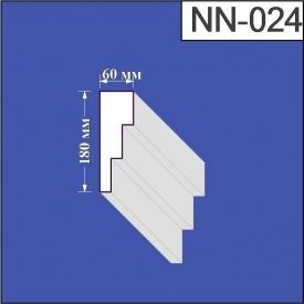 Наличник из пенополистирола Валькирия 60х180 мм (NN 024)
