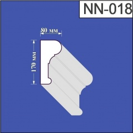 Наличник из пенополистирола Валькирия 80х170 мм (NN 018)