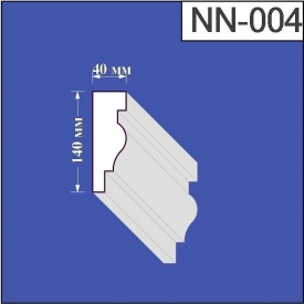 Наличник из пенополистирола Валькирия 40х140 мм (NN 004)