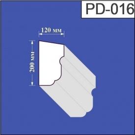 Подоконник из пенополистирола Валькирия 120х200 мм (PD 016)