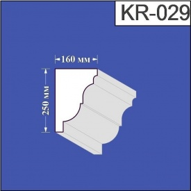 Карниз из пенополистирола Валькирия 160х250 мм (KR 029)
