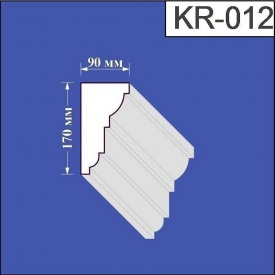 Карниз из пенополистирола Валькирия 90х170 мм (KR 012)