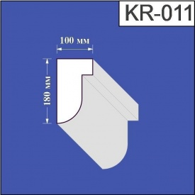 Карниз из пенополистирола Валькирия 100х180 мм (KR 011)