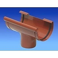 Водостічна воронка Wavin Kanion 160/110х340х230 мм коричнева