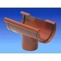 Водостічна воронка Wavin Kanion 100/75х250х141 мм коричнева