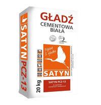 Цементная гладкая штукатурка SATYN PCZ-13 20 кг белая