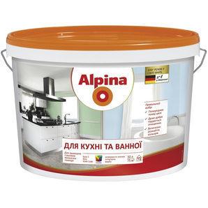Интерьерная краска Alpina кухня и ванная 2,5 л