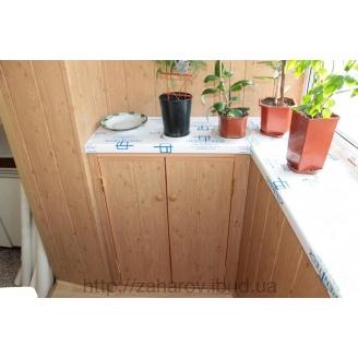 Обшивка балкона вагонкой из пластика 10 см