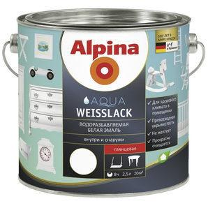 Емаль Alpina Aqua Weisslack 2,5 л