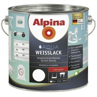 Емаль Alpina Aqua Weisslack 0,75 л
