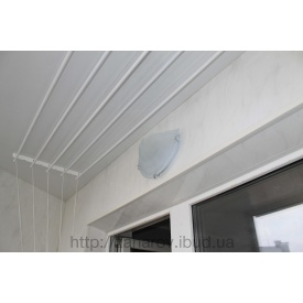 Оздоблення балкона пластиковими панелями