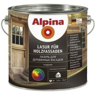 Лазурь Alpina Lasur fur Holzfassaden 2,5 л