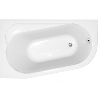 Ванна асиметрична з кріпленням ліва Cersanit ARIZA 160х90 см (S301-091)