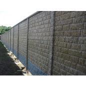 Секция еврозабора из бетонного мрамора глухая Рустовый камень 0,5х2 м