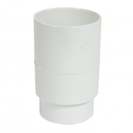 Муфта водостічної ринви труби Nicoll 80 мм білий