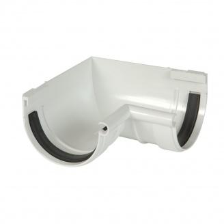 Кут ринви внутрішній 90° Nicoll 25 ПРЕМІУМ на гумових ущільнювачах 115 мм білий