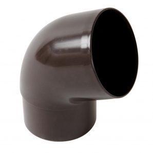 Отвод одномуфтовый Nicoll 67° коричневый