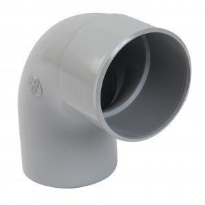 Отвод одномуфтовый Nicoll 25 ПРЕМИУМ 87° 80 мм серый