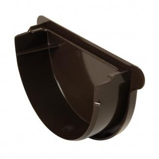 Заглушка воронки універсальна Nicoll 25 ПРЕМІУМ на резиновых уплотнителях коричневый
