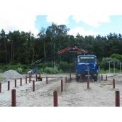 Монтаж гвинтових паль 133 мм