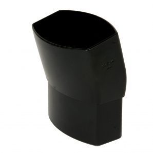 Отвод Nicoll 28 OVATION 15° 80 мм черный
