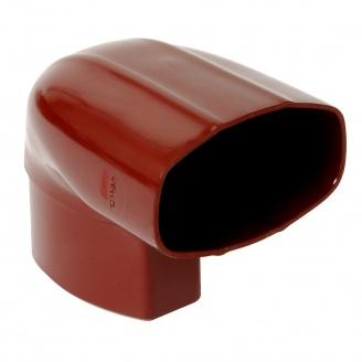 Відвід Nicoll 28 OVATION 90° 80 мм червоний