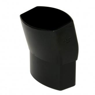 Відвід Nicoll 28 OVATION 15° 80 мм чорний