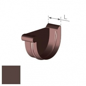 Заглушка ліва Gamrat 100 мм коричнева