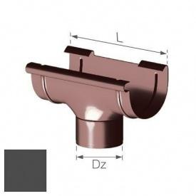 Зливна воронка Gamrat 125/110 мм графітова
