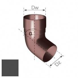 Коліно Gamrat 67,5° 90 мм графітове