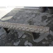 Конек для забора бетонный