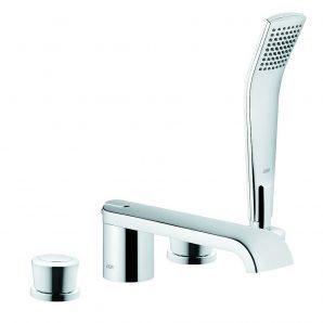 Змішувач для ванни та душу KLUDI JOOP! DN 15 хром зелене кришталеве скло (55425H705)