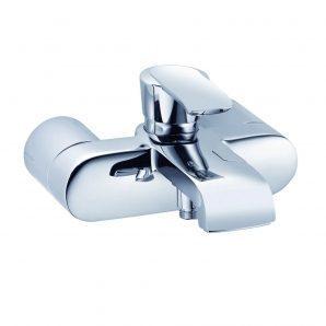 Змішувач для ванни та душу KLUDI JOOP! DN 15 хром зелене кришталеве скло (55443H775)