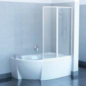 Двухэлементная штора для ванны RAVAK VSK2 Rosa 150х150 см RAIN (76P8010041)