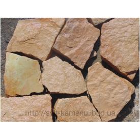 Каменьтротуарный кварцито-песчаник 5-8 см розовый