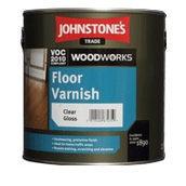 Лак JOHNSTONE'S Floor Varnish Satin на растворителе полуматовый 2,5 л