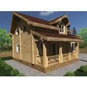 Будинок з профільованого бруса 140х180 мм Проект D-07