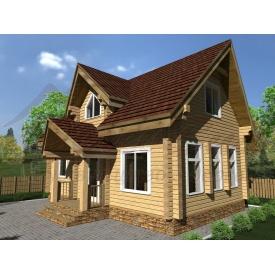 Будинок з профільованого бруса 140x180 мм Проект D-11 5,5 x 8,9 м