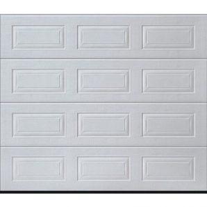 Ворота гаражні секційні одностінні Hormann LTE касета woodgrain RAL 9016 білий