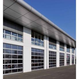 Промышленные секционные ворота с остеклением Hormann ALRF42
