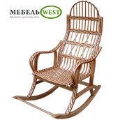 Кресло-качалка Разборная из лозы 115х65х132 см