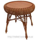 Стол обплетенный круглый для кафе