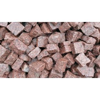 Брусчатка гранитная колотая Лезниковского месторождения 10х10х5 см