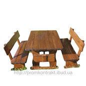 Дитячий столик зі стільчиками та лавками