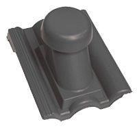 Круглый неутепленный вентиляционный элемент Terran Данубиа 110 мм антрацит