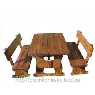 Детский столик со стульчиками и лавками